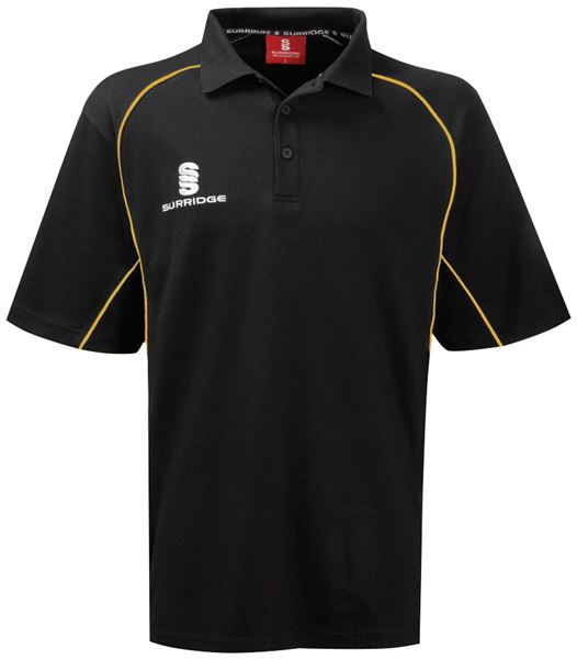 Bild von Heavyweight Polo Shirt - Black/Gold