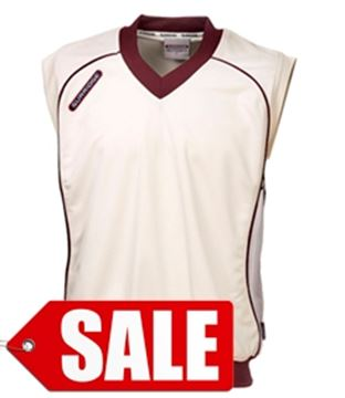 Bild von Sleeveless  Cricket Jumper - Cr/Ma (Sale)