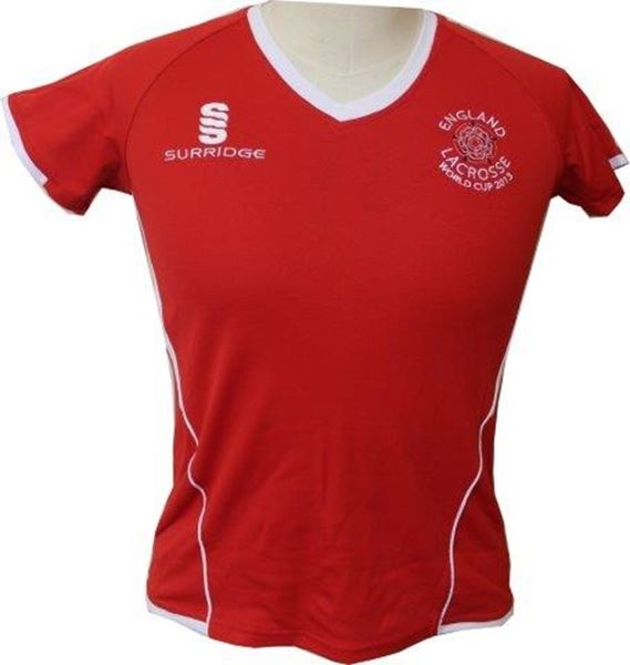 Picture of England Lacrosse Top Red