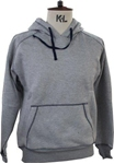 Picture of HOODED SWEATSHIRT GREY MARL WITH NAVY STICHING