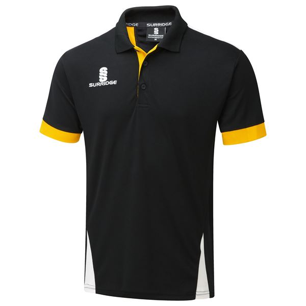 Picture of Blade Polo Shirt : Black / Amber / White