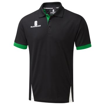 Bild von Blade Polo Shirt : Black / Emerald / White