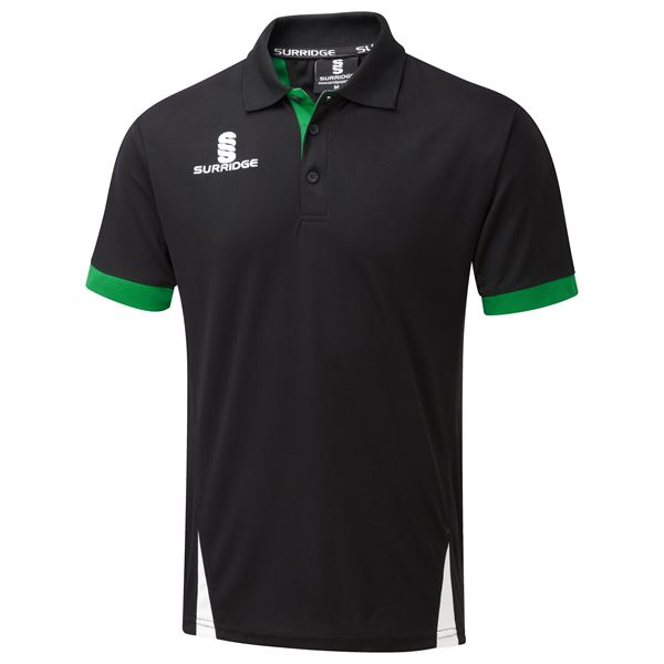 Image sur Blade Polo Shirt : Black / Emerald / White