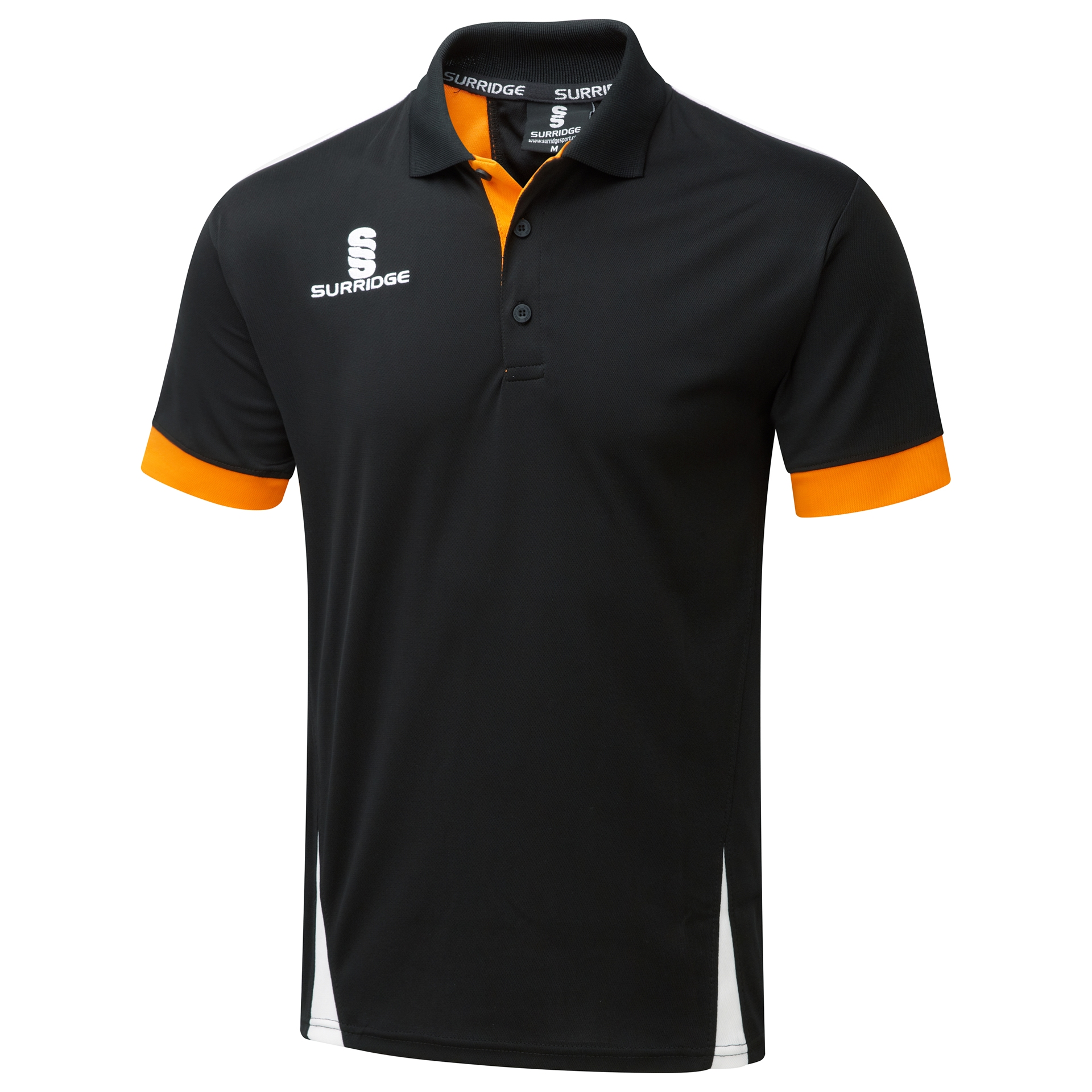 10b81b7f Surridge Sport - Blade Polo Shirt : Black / Orange / White