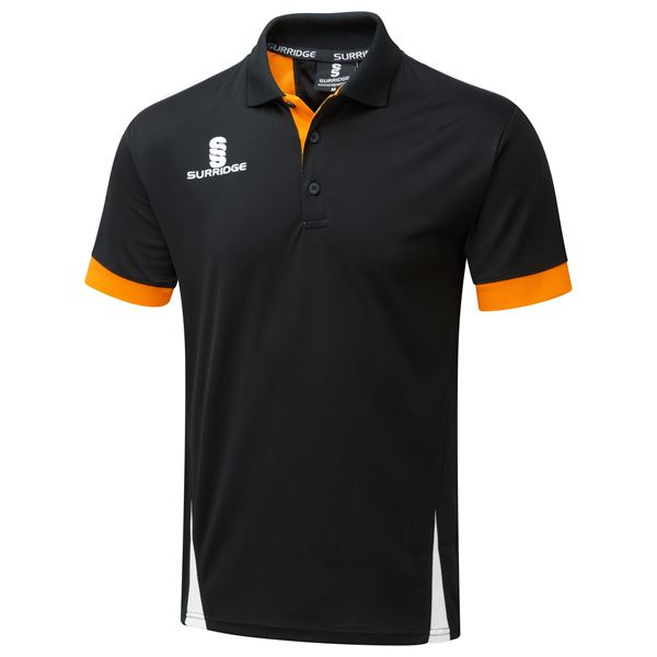 Imagen de Blade Polo Shirt : Black / Orange / White