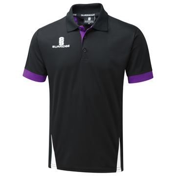 Afbeeldingen van Blade Polo Shirt : Black / Purple / White
