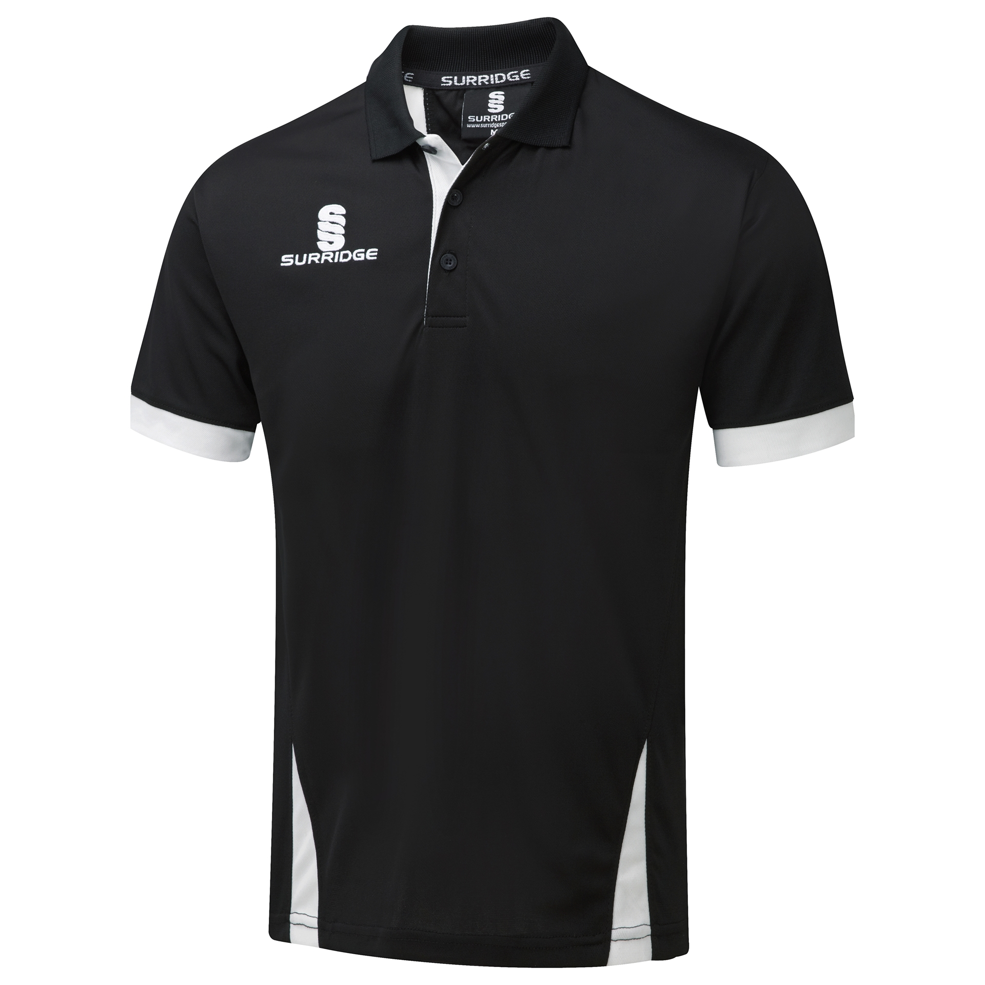 Surridge Sport Blade Polo Shirt Black White