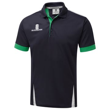 Bild von Blade Polo Shirt : Navy / Emerald / White