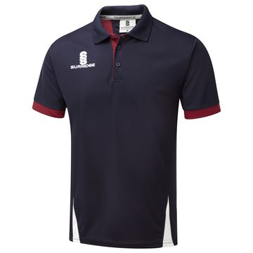 Picture of Blade Polo Shirt : Navy / Maroon / White