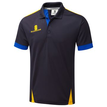 Image de Blade Polo Shirt : Navy / Royal / Amber