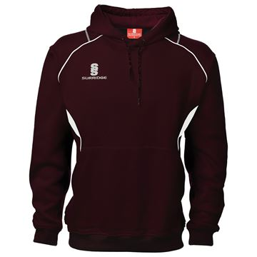 Picture of Curve Hoodie : Maroon / White