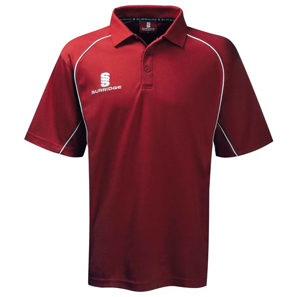 Image sur Alpha Polo Shirt Maroon/White