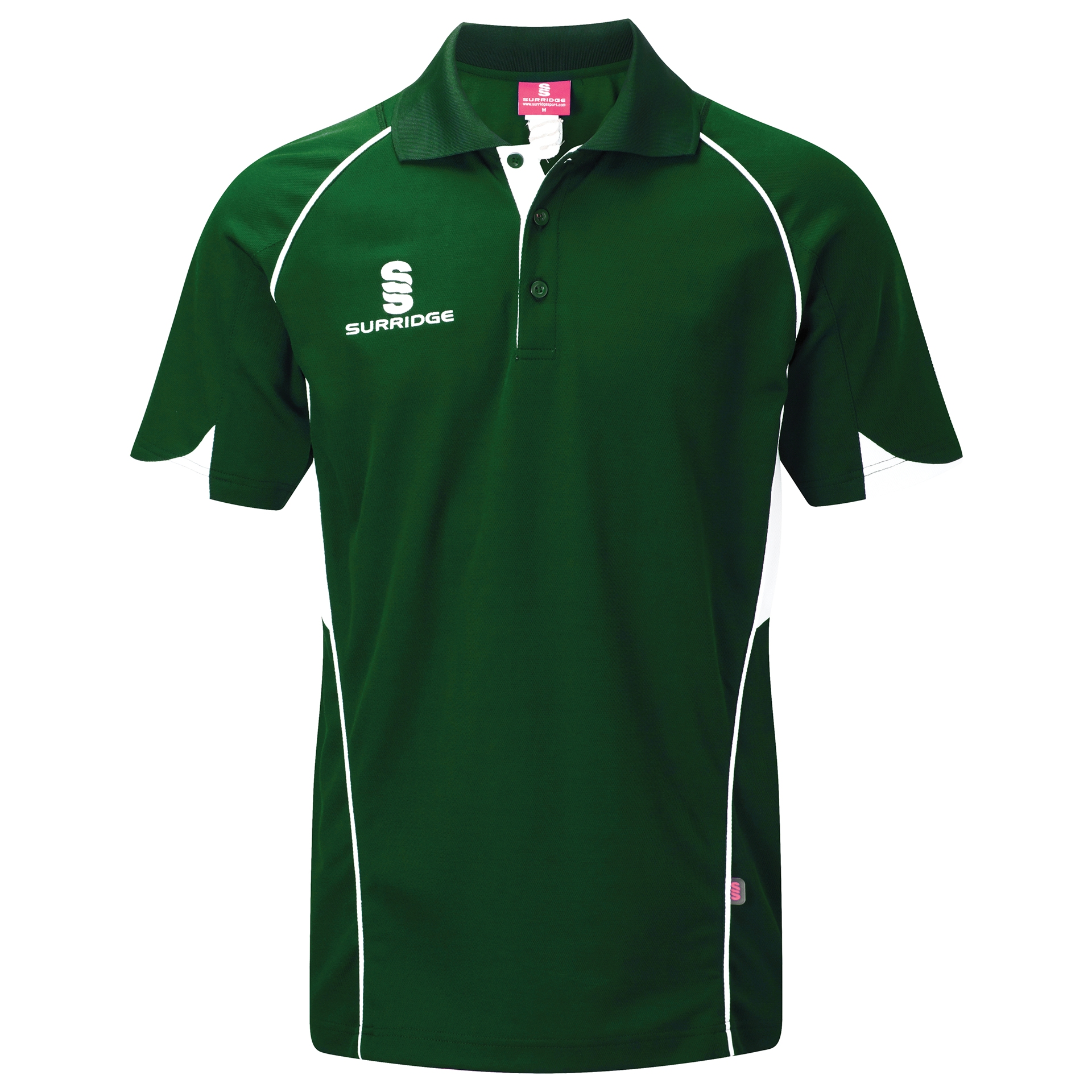 Surridge Sport - Curve Polo Shirt - Green/White