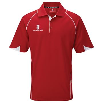 Image de Curve Polo Shirt - Red/White