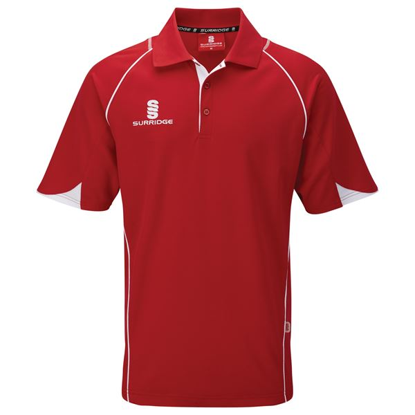 Bild von Curve Polo Shirt - Red/White