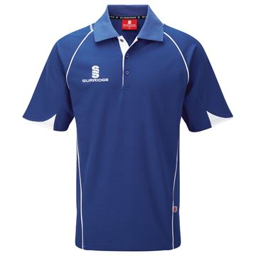 Bild von Curve Polo Shirt - Royal/White