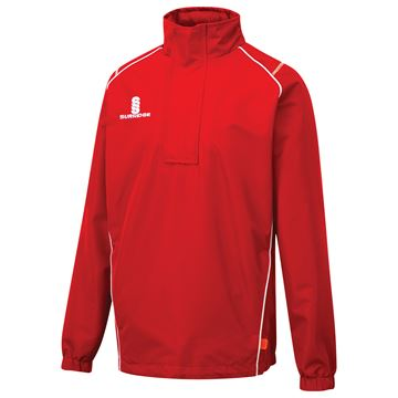 Image de Curve 1/4 Zip Rain Jacket - Red/White
