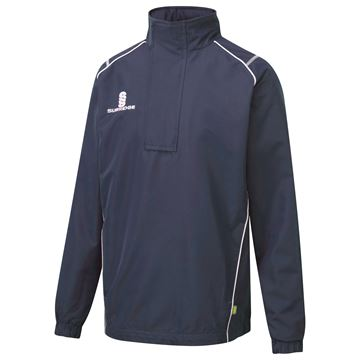 Picture of Curve 1/4 Zip Rain Jacket - Navy/White