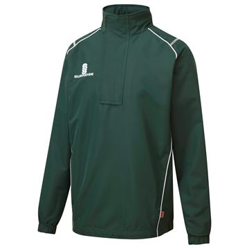 Image de Curve 1/4 Zip Rain Jacket - Green/White