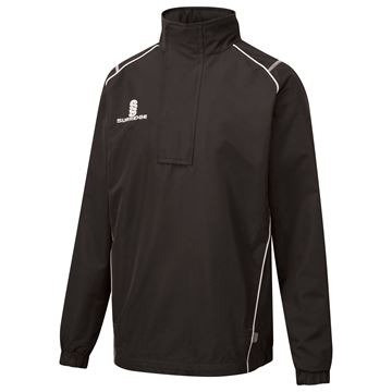 Picture of Curve 1/4 Zip Rain Jacket - Black/ White