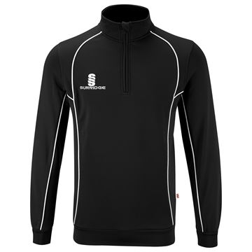 Picture of Alpha 1/4 Zip Performance Top : Black / White