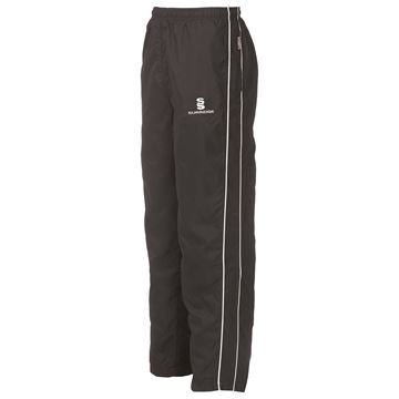 Afbeeldingen van Classic Tracksuit Pant With Thigh Length Zip - Black/White