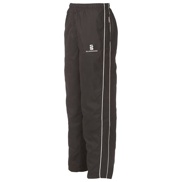 Afbeelding van Classic Tracksuit Pant With Thigh Length Zip - Black/White