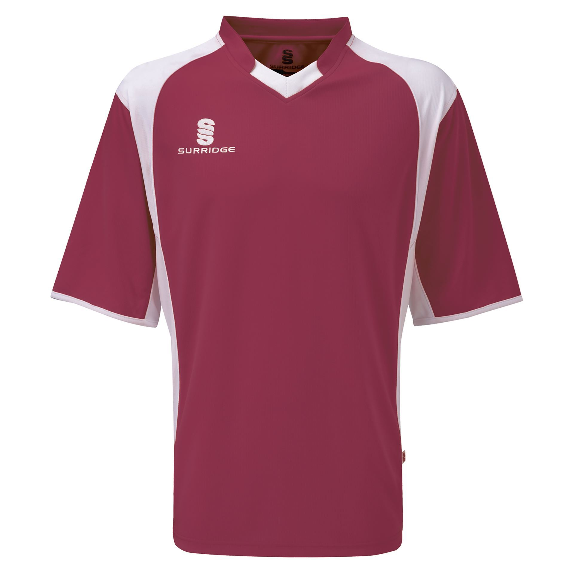 Surridge Sport - Training T-Shirt - Maroon/White