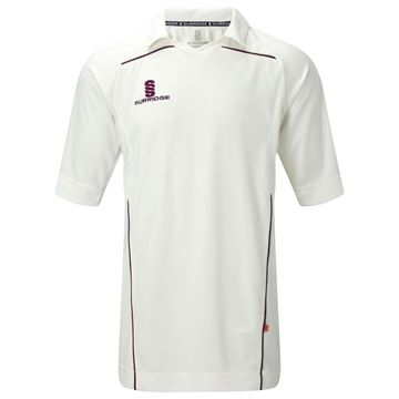 Picture of 3/4 Sleeve Century Shirt - Maroon Trim