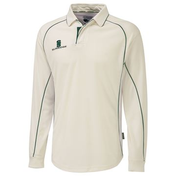 Bild von Long Sleeve Shirt - Green Trim