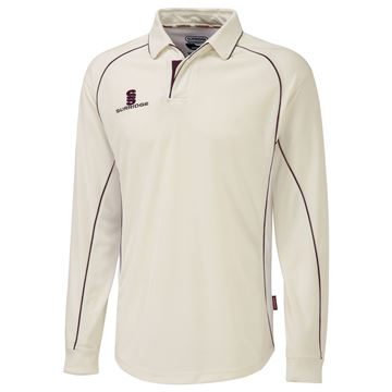 Picture of Long Sleeve Shirt - Maroon Trim
