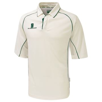 Afbeeldingen van Premier Cricket Shirt - 3/4 Sleeve - Green Trim