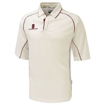 Afbeeldingen van Premier Cricket Shirt - 3/4 Sleeve - Red Trim