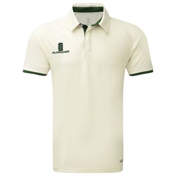Afbeeldingen van Tek Cricket Shirt - Short Sleeve : Green Trim