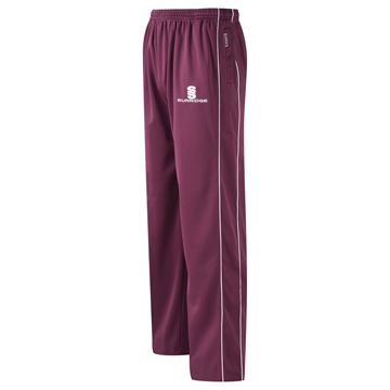 Picture of Coloured Trousers - Maroon/White