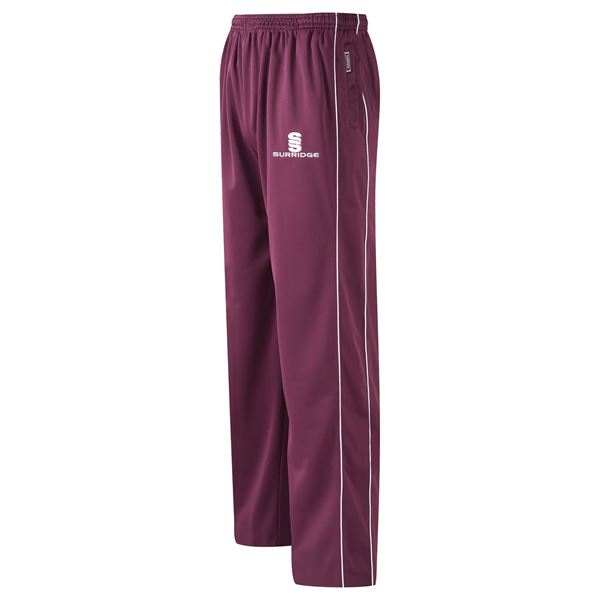 Afbeelding van Coloured Trousers - Maroon/White
