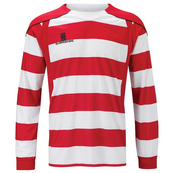 Picture of Printed Hooped Shirt - Red/White