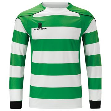 Afbeeldingen van Printed Hooped Shirt - Green/White