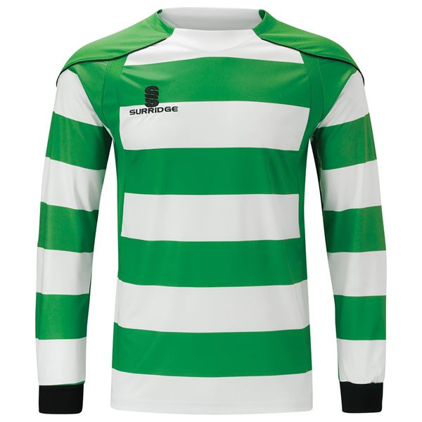 Afbeelding van Printed Hooped Shirt - Green/White