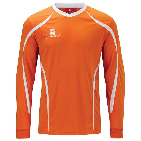 Image sur Beta L/S Shirt Orange/White