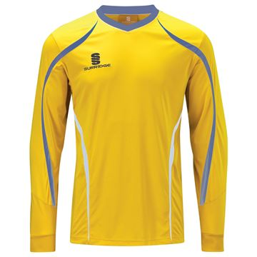 Afbeeldingen van Beta L/S Shirt Yellow/Royal/White