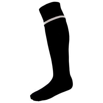 Picture of Single Band Sock - Black/White