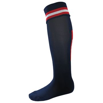 Afbeeldingen van Single Band Sock - Navy/Red/White