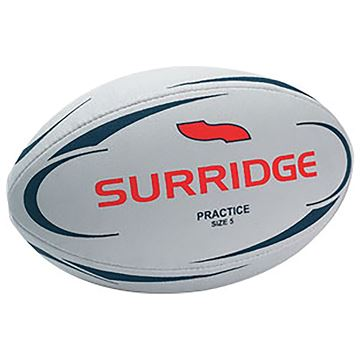 Image de Surridge Practice 3 Ply Rugby Ball