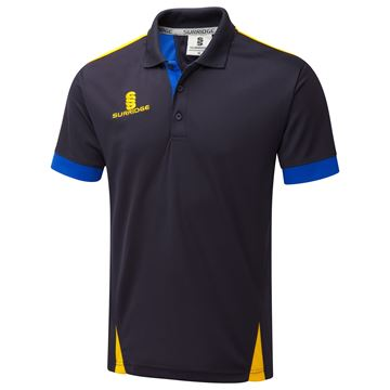 Picture of Blade Polo Shirt : Navy / Royal / Amber