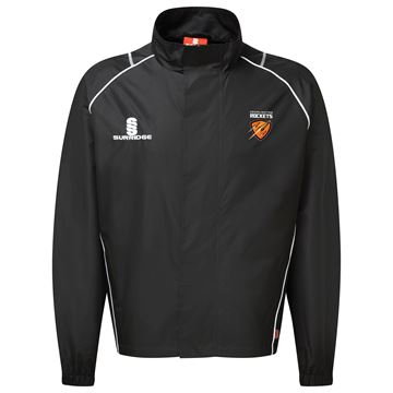 Picture of Cramlington Rockets Curve Full Zip Rain Jacket - Black