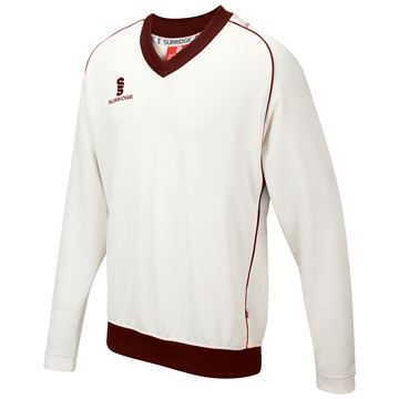 Image de Curve Long Sleeve  Sweater - Maroon