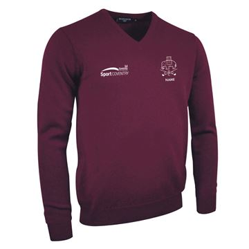 Picture of Coventry University Golf V-Neck Lambswool Sweater
