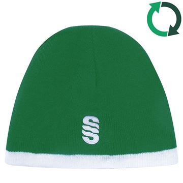 Afbeeldingen van Reversible Beanie EMERALD/BOTTLE