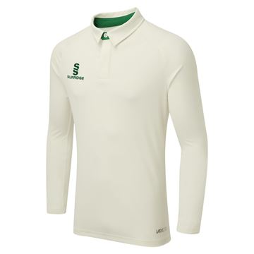Image de TEK LONG SLEEVE CRICKET SHIRT - GREEN